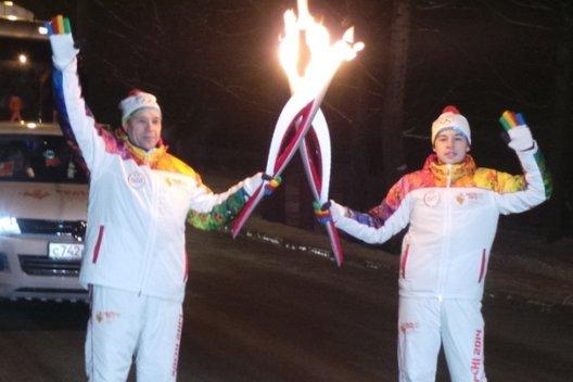 Красноярск встретил Эстафету Олимпийского огня «Сочи 2014» вместе с Coca-Cola