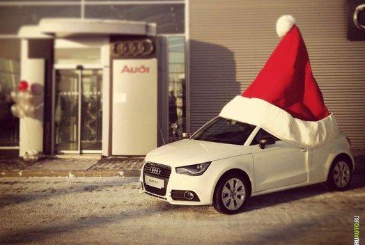 Новогодняя елка в Audi